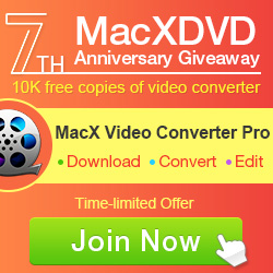 MacX Video Converter - Exclusive Giveaway for Top4Download.com subscribers