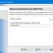 Remove Attachments from MSG Files 4.5 full screenshot