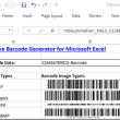 2D Excel Native Barcode Generator 17.07 full screenshot