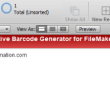 GS1 DataMatrix FileMaker Native Barcode 17.04 full screenshot
