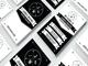 Retro Black and White Business Card 13379 1 full screenshot