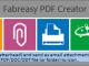 Fabreasy PDF Creator 1.17.2 full screenshot