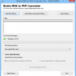 Bulk Export MSG to Adobe PDF 6.6 full screenshot
