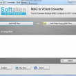 Softaken MSG to vCard Converter 1.0 full screenshot