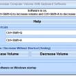 Increase or Decrease Computer Volume With Keyboard Software 7.0 full screenshot