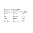 Infowise Birthday List 1.0.17 full screenshot