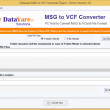 DataVare MSG to VCF Converter 1.0 full screenshot