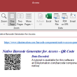 QR Code Native Access Barcode Generator 21.02 full screenshot