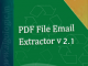PDF File Email Extractor 2.1 full screenshot