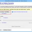 EML files to Zimbra conversion 3.0 full screenshot