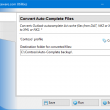 Convert Auto-Complete Files 4.8 full screenshot