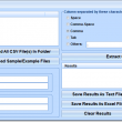 Extract Columns From CSV Files Software 7.0 full screenshot