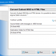 Convert Outlook MSG to HTML Files 4.7 full screenshot