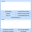 Extract URLs From Multiple Text Files Software 7.0 full screenshot