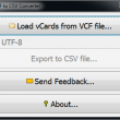 VCF to CSV Converter 1.6 full screenshot