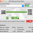 NCP Secure Entry Client for macOS 4.00_r46079 full screenshot
