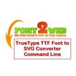 VeryUtils TTF to SVG Command Line 2.3 full screenshot