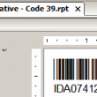 Native Crystal Reports Code 39 Barcode 17.02 full screenshot