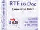RTF TO DOC Converter Batch 3.1.3.31 full screenshot