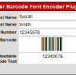 FileMaker Barcode Font Encoder Plugin 14.02 full screenshot