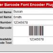 FileMaker Barcode Font Encoder Plugin 14.02 full screenshot