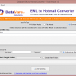 Datavare EML to Hotmail Converter 1.0 full screenshot