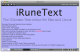 iRuneText for Mac and Linux 2.00 full screenshot