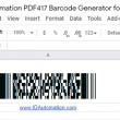 Sheets PDF417 Script for Google 21.06 full screenshot