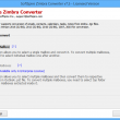 Zimbra Mail Database Backup to Outlook 8.5.5 full screenshot