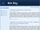 Mini Blog 1.1 full screenshot