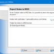 Export Notes to MSG Format 3.2 full screenshot