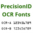 OCR-A and OCR-B Fonts by PrecisionID 2018 full screenshot