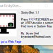 StickyShot 1.1 full screenshot