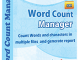 Word Count Manager 3.6.7.25 full screenshot