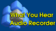 What You Hear Audio Recorder 5 full screenshot