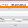 Datavare MSG to Gmail Converter Software 1.0 full screenshot