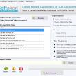 Lotus Notes Calendars to ICS Converter 1.0 full screenshot