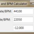 Sample Rate and BPM Calculator 1.01 full screenshot