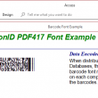 PrecisionID PDF417 Barcode Fonts 2018 full screenshot