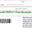 PrecisionID PDF417 Barcode Fonts 2018 full screenshot