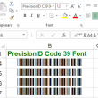 PrecisionID Code 39 Fonts 2018 full screenshot