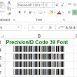 PrecisionID Code 39 Fonts 2018 full screenshot