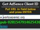 Get AdSense Client ID 1.1 full screenshot