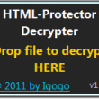 HTML-Protector Decrypter 1.3 full screenshot