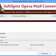 Transfer Opera Mail to Outlook PST 1.2.5 full screenshot