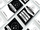 Retro Black and White Business Card 13379 1 full screenshot