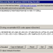 Barcode Scanner ASCII String Decoder 2013 full screenshot