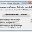 Windows Defender Uninstaller  full screenshot