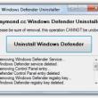 Windows Defender Uninstaller  full screenshot