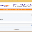 DataVare OST to HTML Converter Expert 1.0 full screenshot